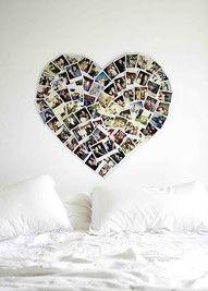 Polaroid heart wall