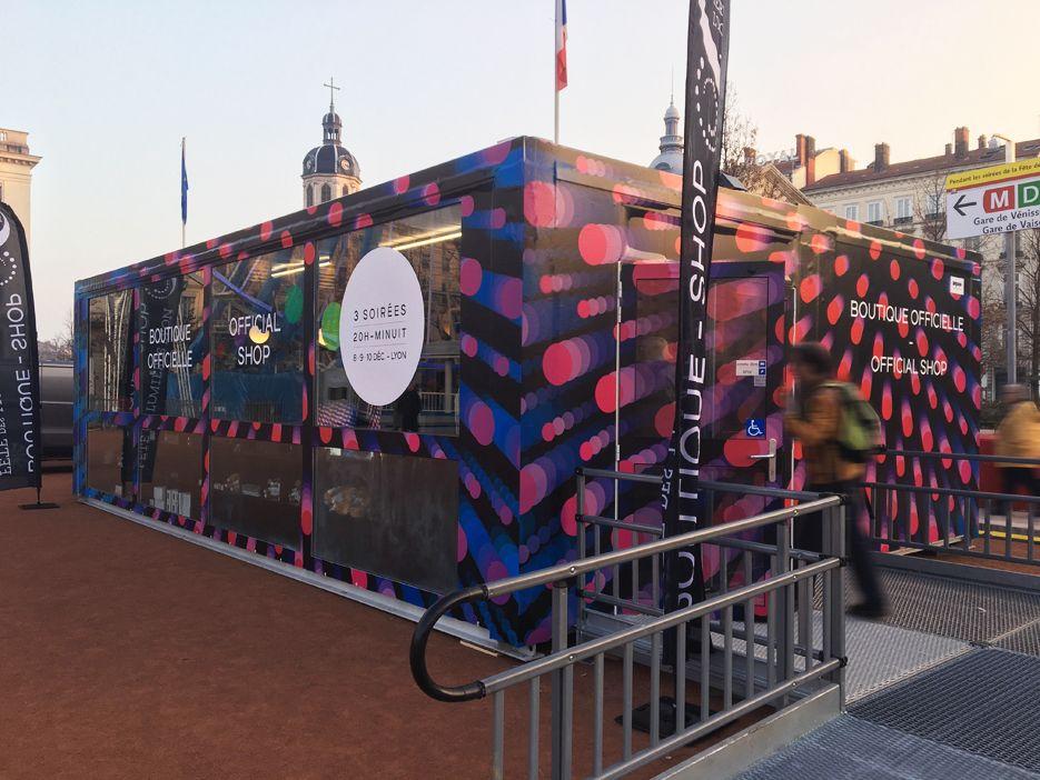 Décoration modules - évènementiel - Fête des Lumières - Lyon