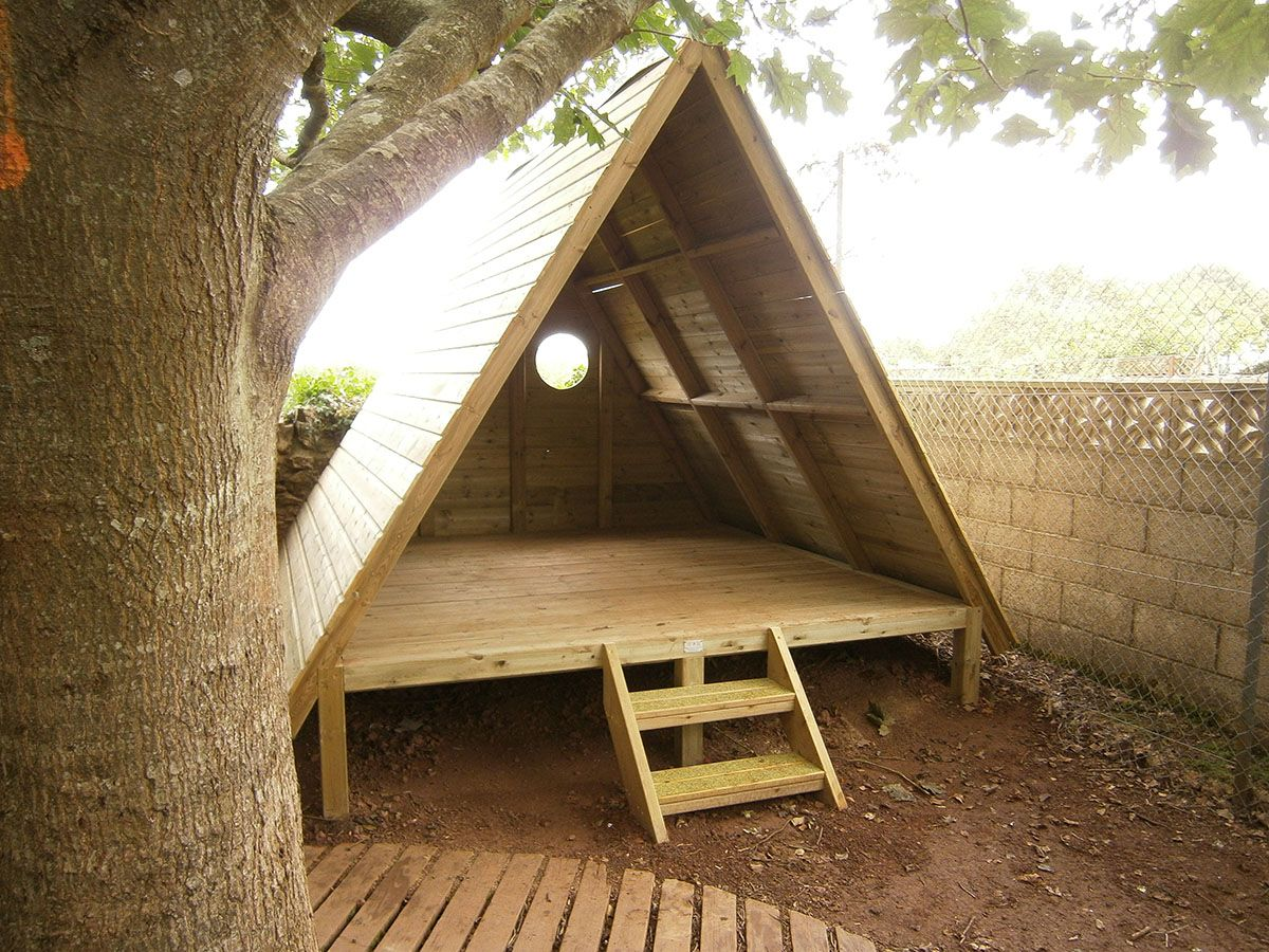 Forest Story House | Rustic Style Playhouse | Playground Equipment ...