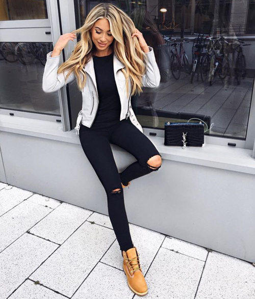 tenue femme timberland