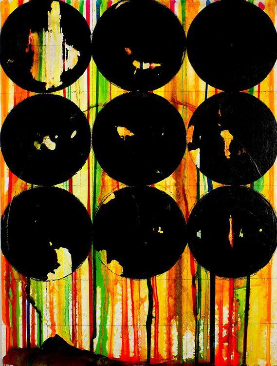 "ny.11.#09 by Jennifer Sánchez - mixed media on panel, 16""x12"", 2011"