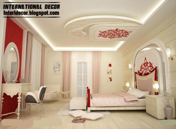 Modern Pop False Ceiling Designs For Bedroom Interior Gypsum False