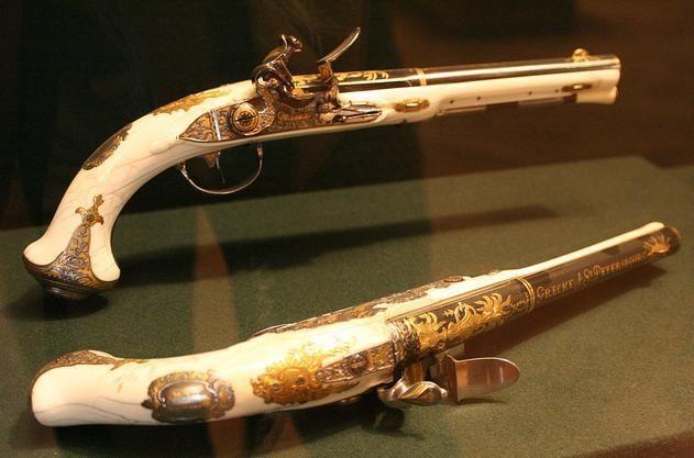 Nice Pair Flintlock Pistol Antique Guns Flintlock