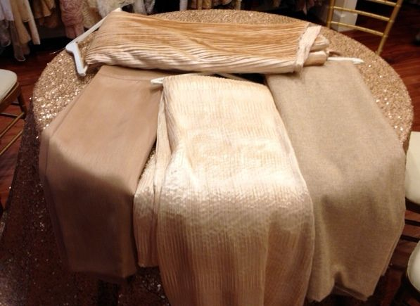 Gold/champagne Colored Tablecloths To Compliment Gold Sequin Tablecloths