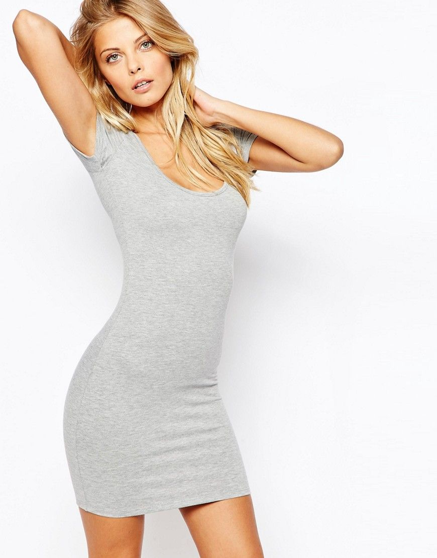 ba9ae882734 ASOS+Scoop+Front+and+Back+Bodycon+Mini+Dress