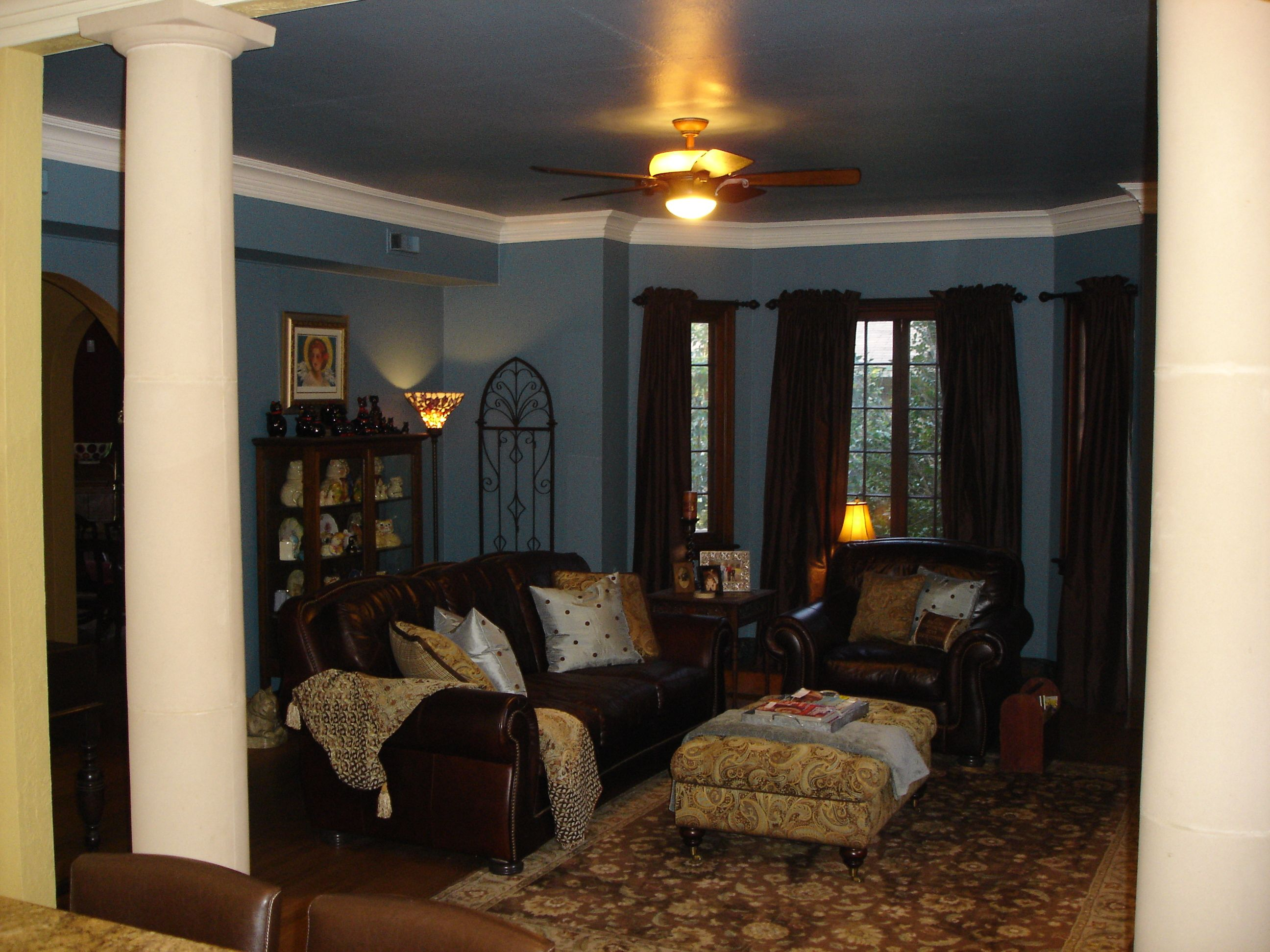 Living room blue and brown brown livingrooms brown - Blue and brown living room furniture ...