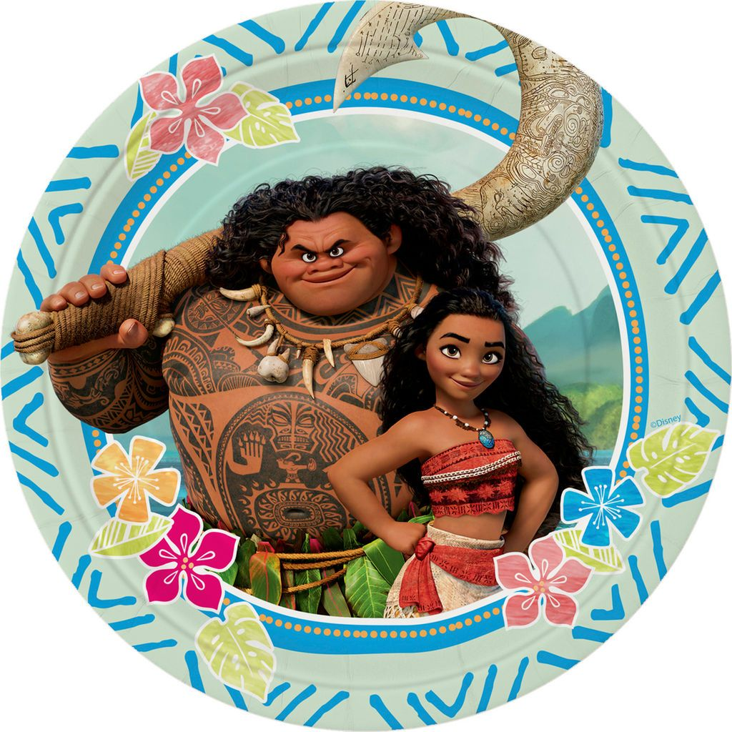 Disney Moana Paper Plates For Themed Party Supplies