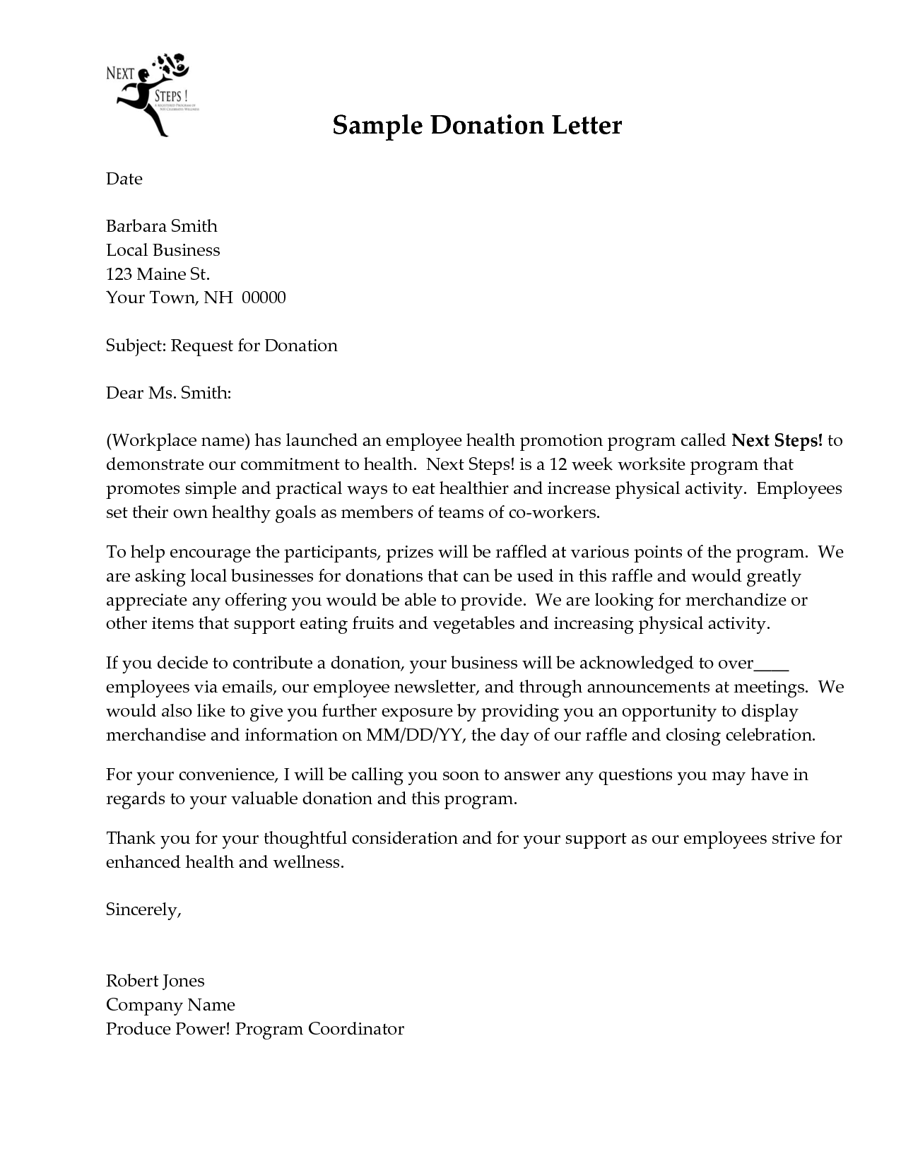 Donations Christmas Donation Request Letter And Business Formal