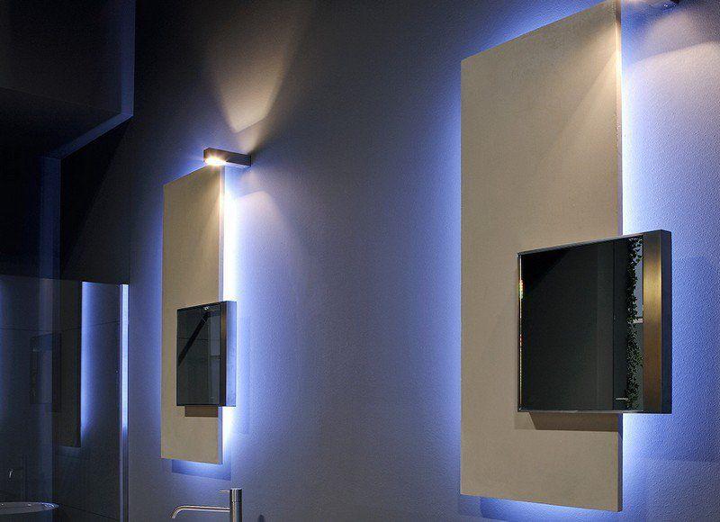 miroir salle de bain lumineux et clairage indirect en 50 id es salles de bains lumineuses. Black Bedroom Furniture Sets. Home Design Ideas