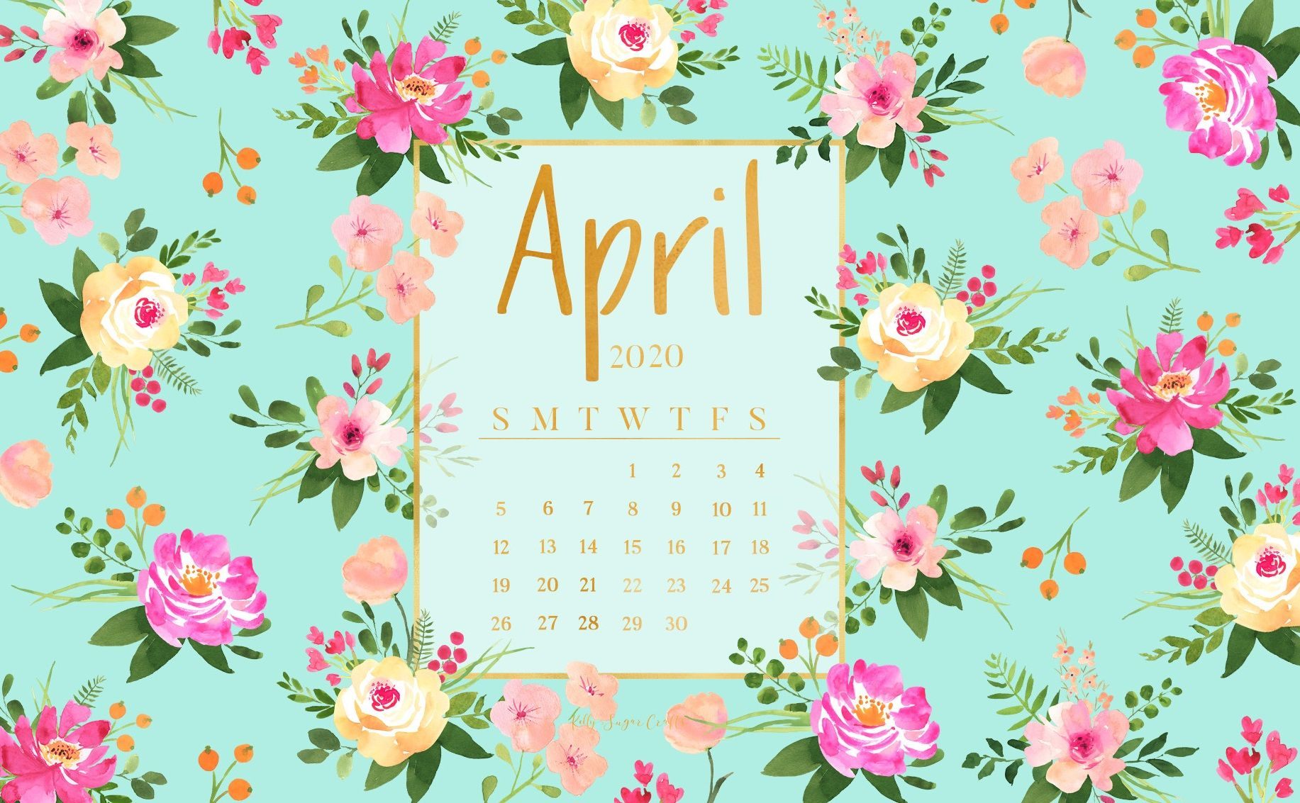April 2020 Wallpaper Calendar In 2020 Calendar Wallpaper