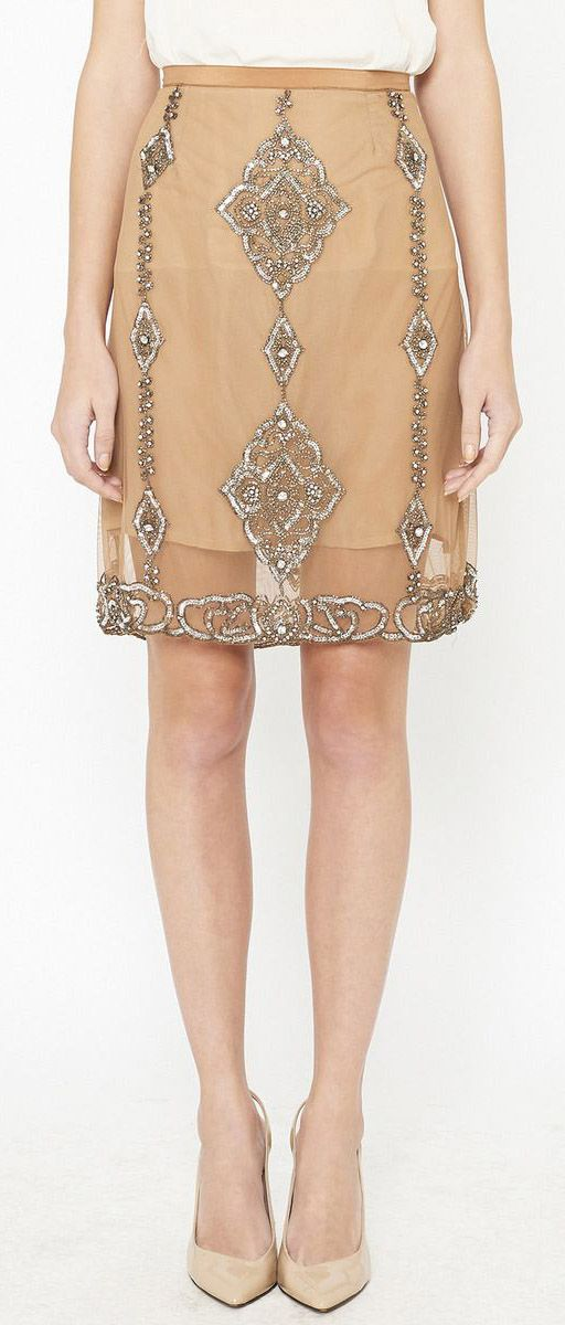Tracy Reese Tan Skirt