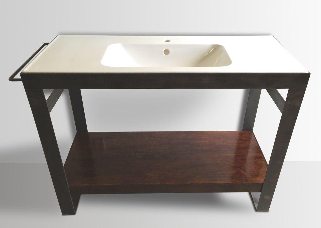 Denver Colorado industrial modern bathroom vanity ...