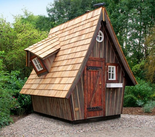 Kleine Gartenhäuser sind super beliebt! Baumhaus designs
