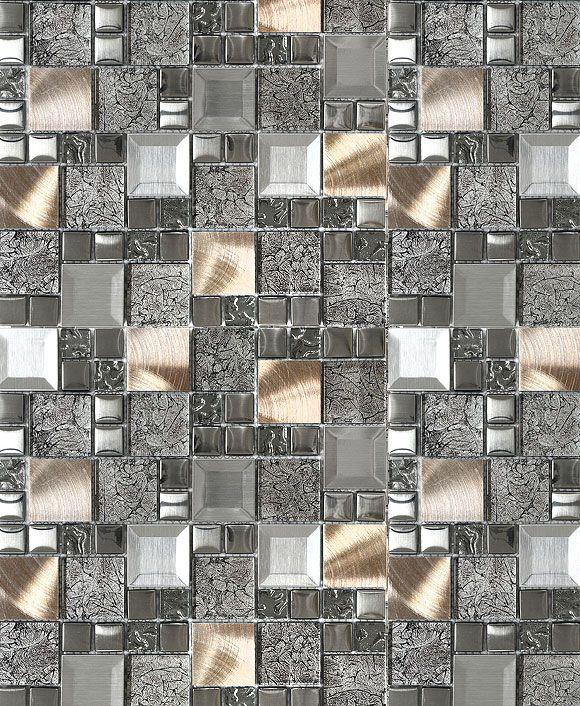 Glass Metal Gray Copper Mosaic Backsplash Tile Backsplash Com Mosaic Backsplash Kitchen Copper Mosaic Backsplash Mosaic Backsplash