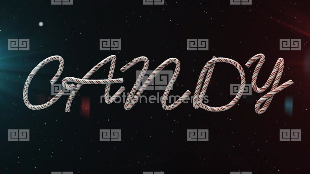 Candy Cane Text After Effects Template  RoyaltyFree After