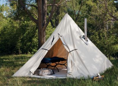 Cabela 39 s outfitter range a frame tent by montana canvas for How to build a canvas tent frame