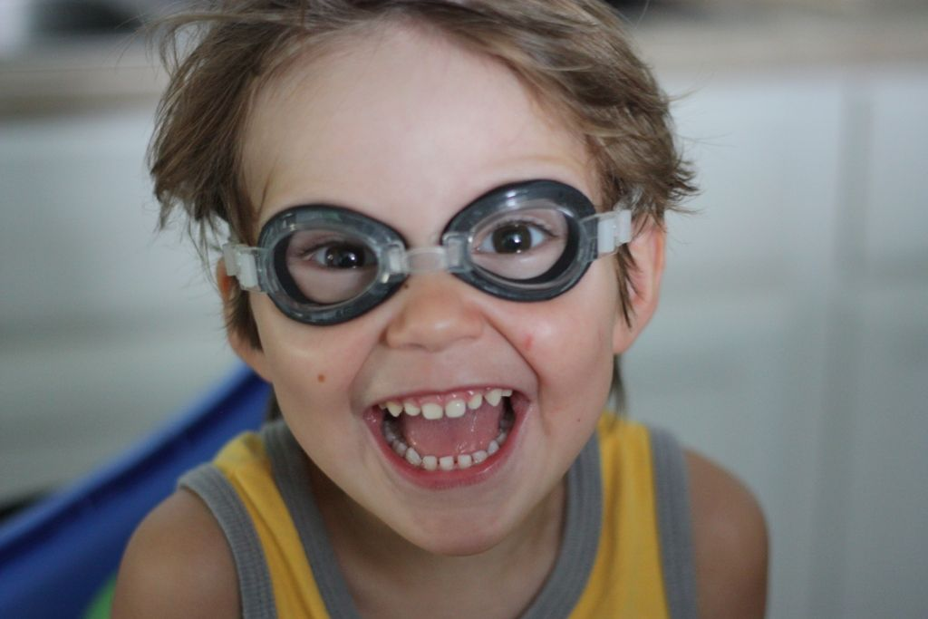 Boy in goggles