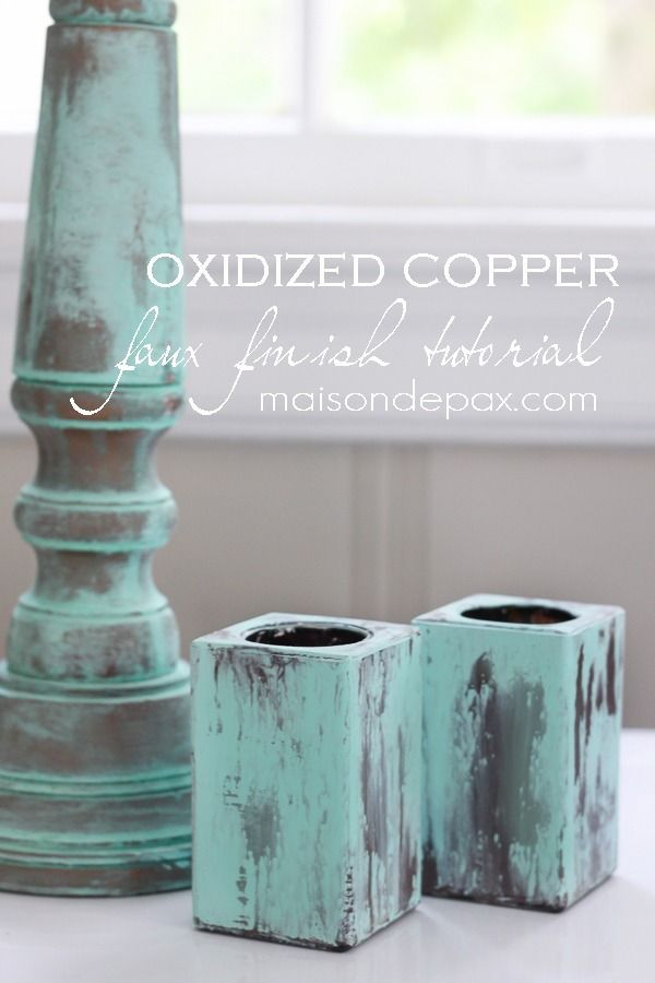 Create your own gorgeous patina to imitate oxidized copper with this tutorial at maisondepax.com