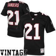NFLShop.com - NFLShop.com Mens Atlanta Falcons Deion Sanders Mitchell    Ness Black da9e29207fc