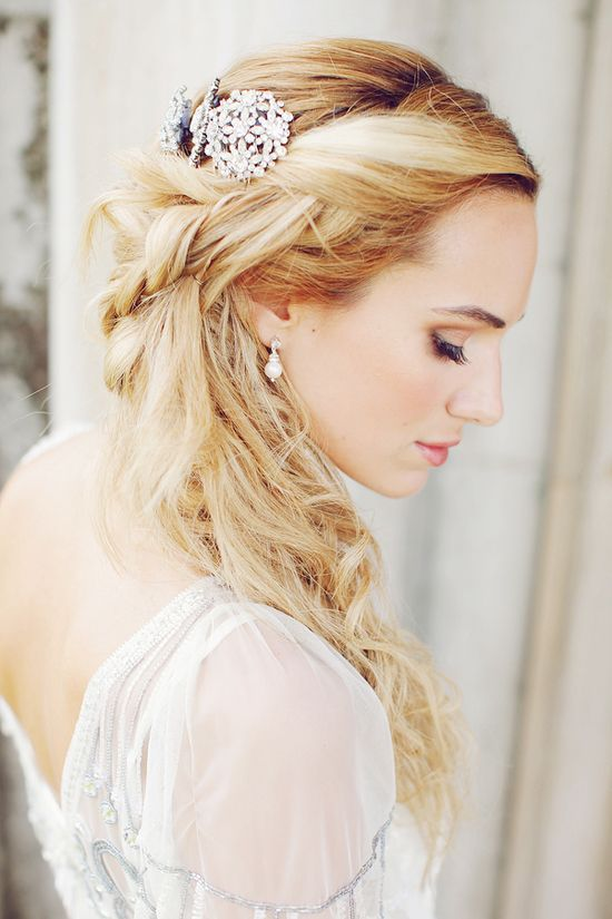 Braids & brooches wedding hair style - 2013 Wedding Trend