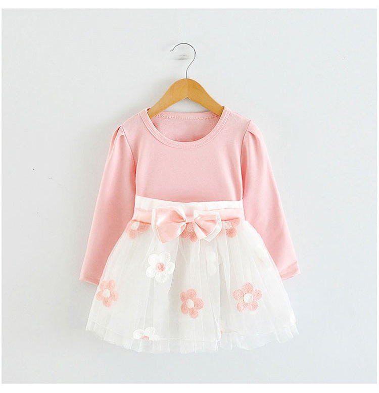 769913337 Baby Girl Long Sleeve Floral detail dress – Cheeky Meeky ...