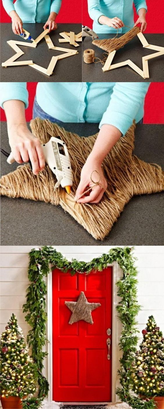 Christmas Wreath and Front Door Christmas Decorations | Decorated Life