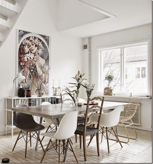 case e interni stile scandinavo urban chic bianco