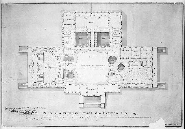 United States Capitol 1817 Washington Dc Principle