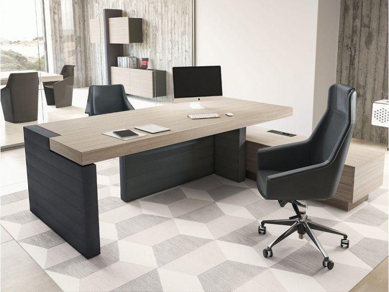 JERA 03 modernes imposantes Chefbüro mit Leder, Chefschreibtisch ...