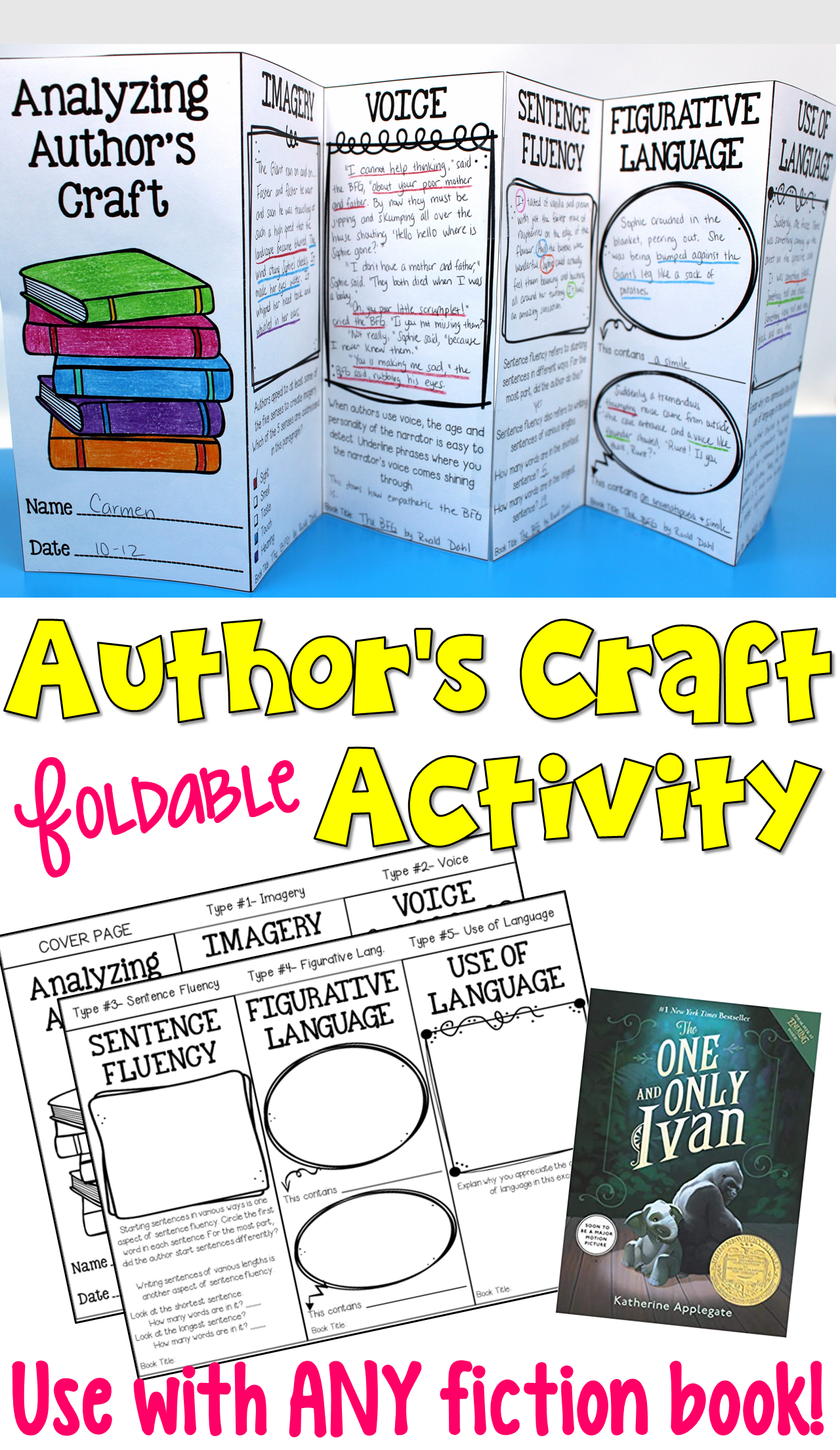 Author S Craft Foldable Activity