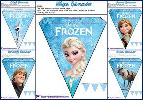 Frozen Pretty Free Printable Bunting Jurjin Rođendan Pinterest