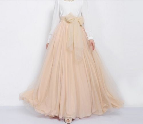 Vintage Bowknot Empire Waist Chiffon Pleated Tiered Dress Long Maxi Skirt Gown #Unbranded #Tiered