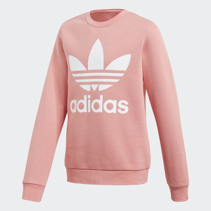 b0237a0681 Fleece Crew Sweatshirt in 2019 | Products | Pink adidas sweatshirt ...