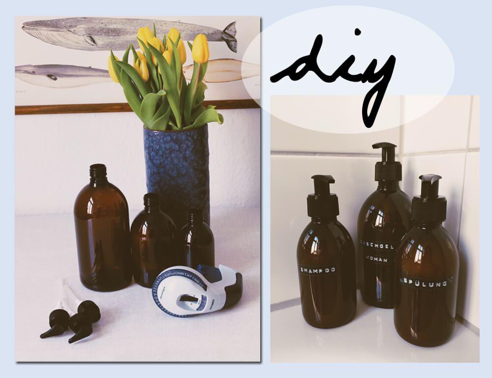 Badezimmer Diy Shampoo Flaschen Verschonern Aufbewahrung