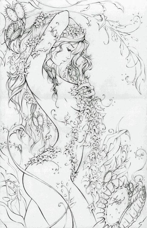 Poison Ivy by Dawn McTeigue | comic art | Pinterest | Tatto vorlagen ...