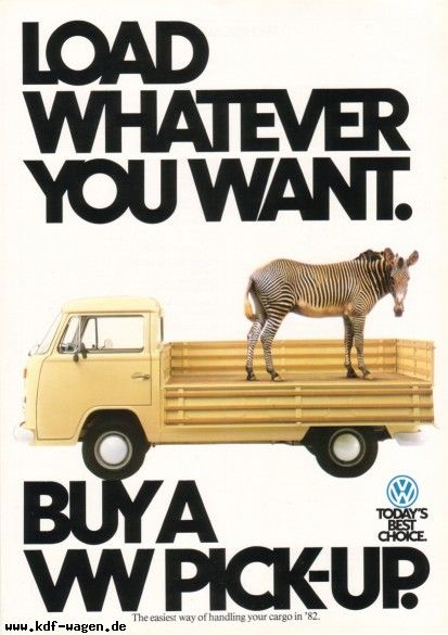 VW - 1981 - Load whatever you want.
