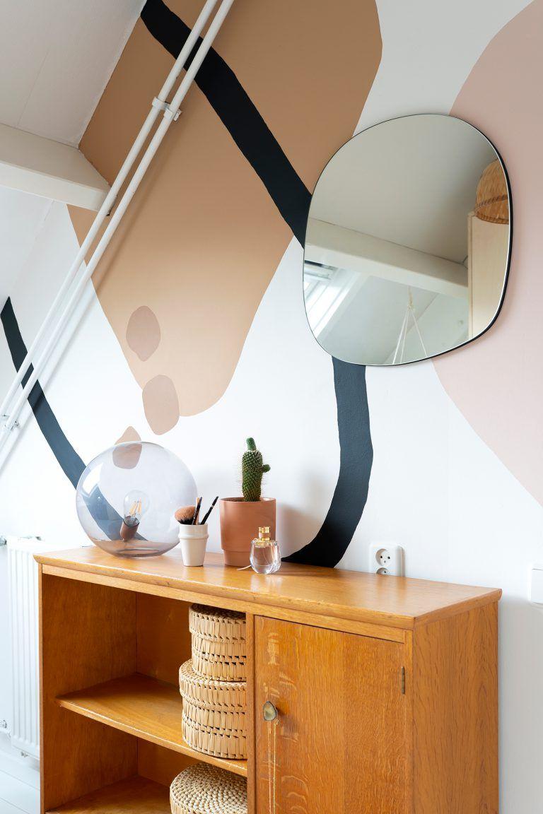 Muurschildering maken met abstracte vormen - Enter
