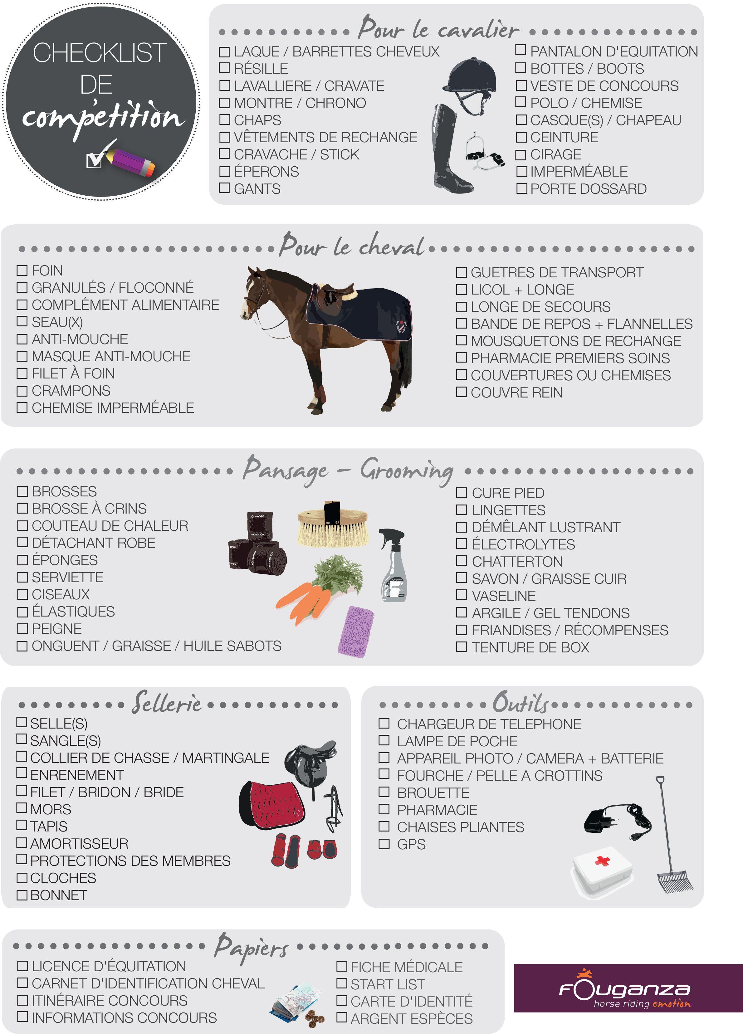 Checklist De Concours