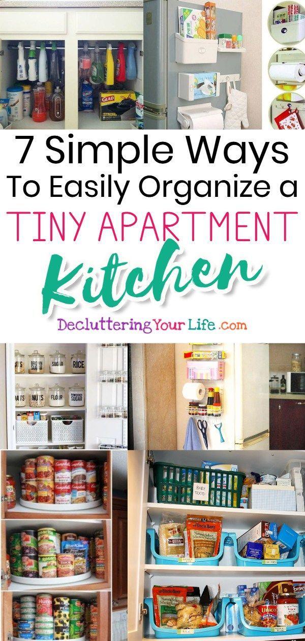 Small Apartment Kitchen Storage Ideas That Won T Risk Your Deposit Small Apartment Kitchen Storage Ideas Small Apartment Organization Small Kitchen Organization
