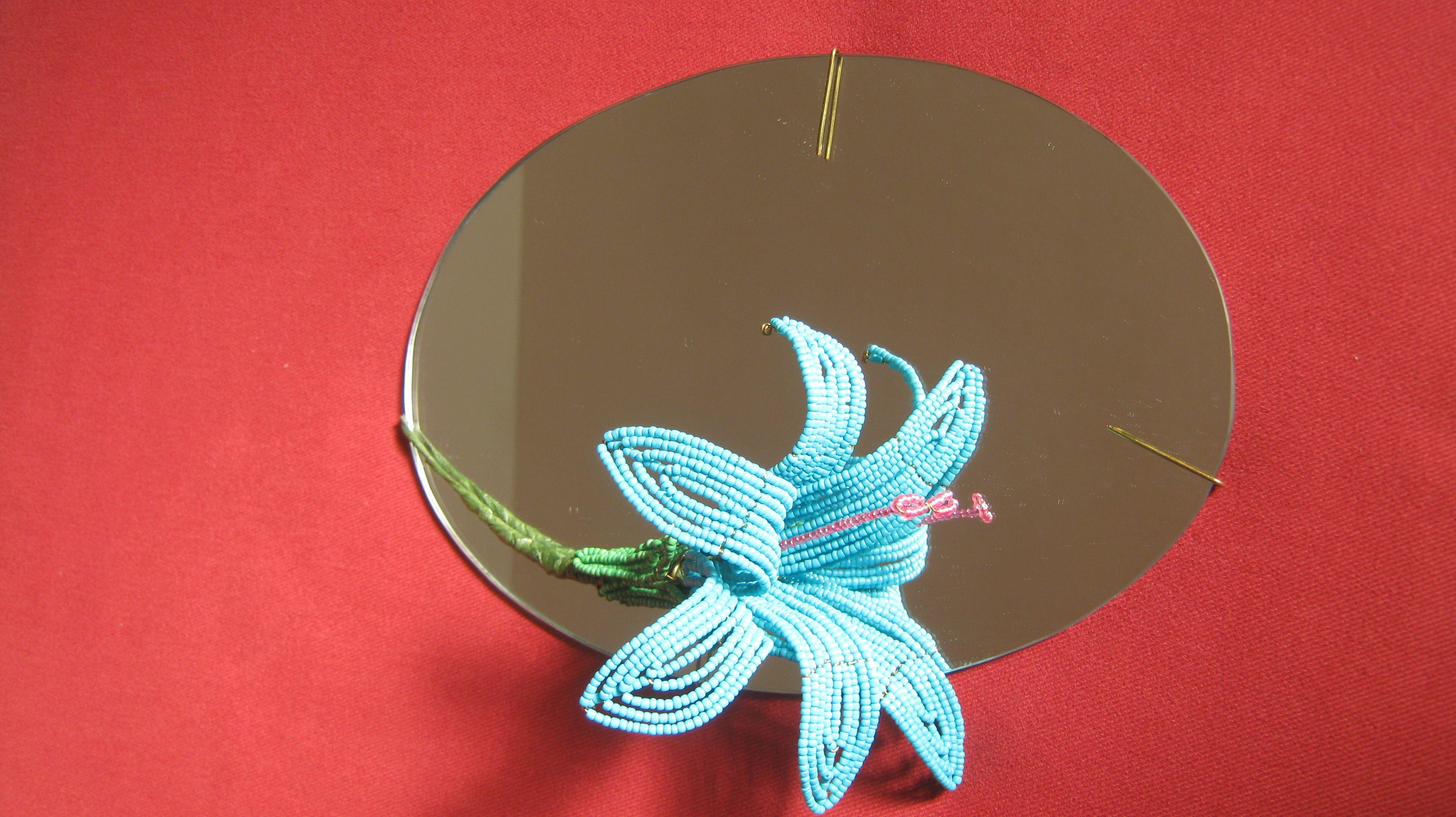 espelho oval lírio turquesa para fairuz 2011