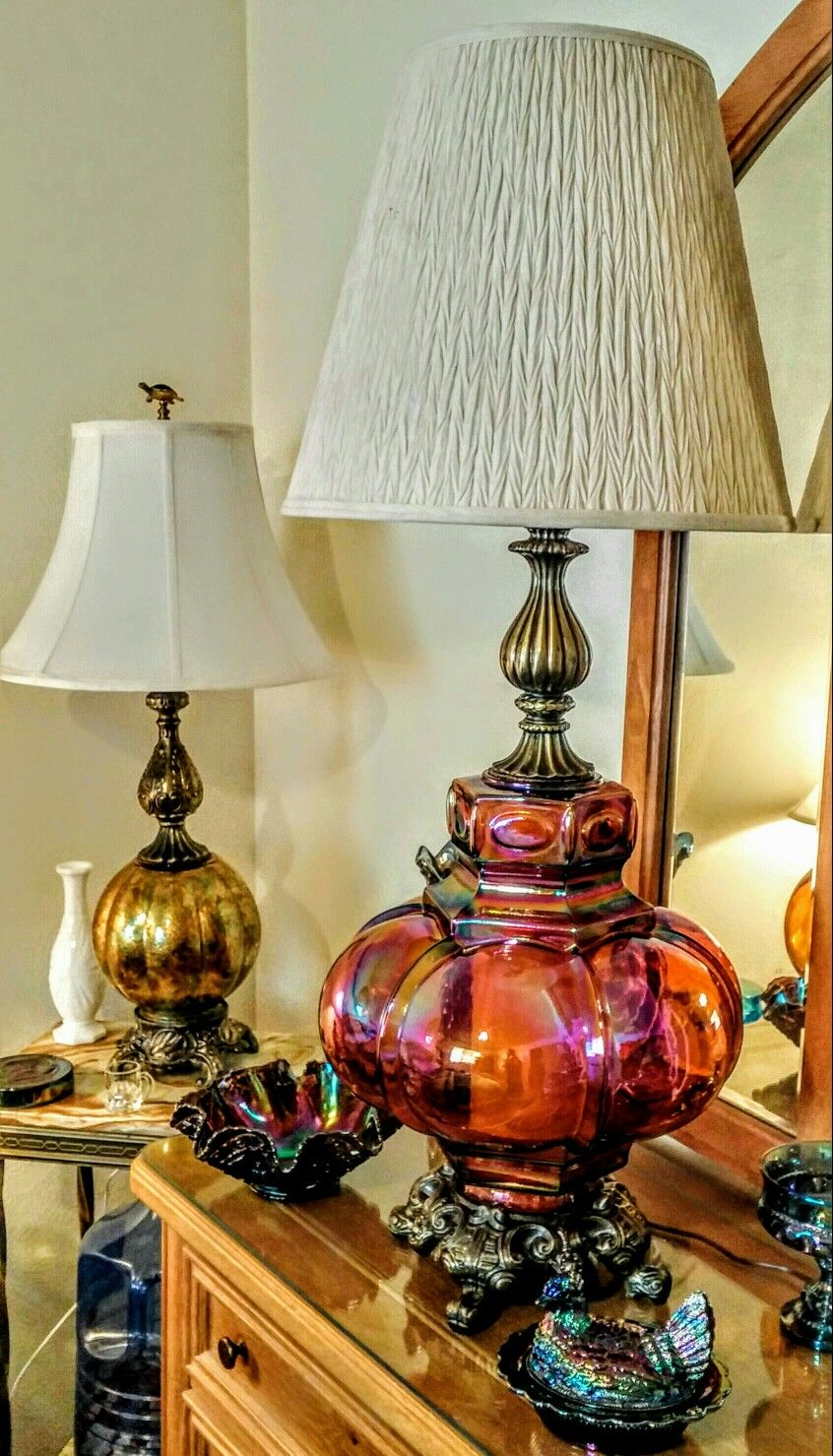 Carnival Glass Lamps | Dishes | Pinterest | Glass ...