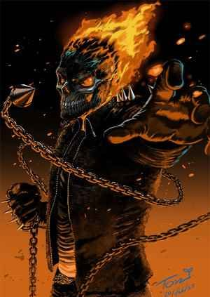 The Rider | Ghost rider marvel  |Ghost Rider Digital Painting Photoshop