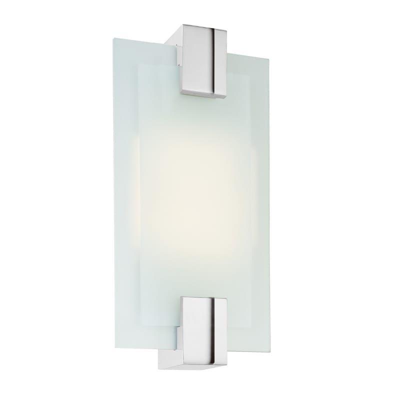 Sonneman 3681.01 Polished Chrome Dakota 2 Light ADA Compliant Wall Sconce with Etched Glass Shade