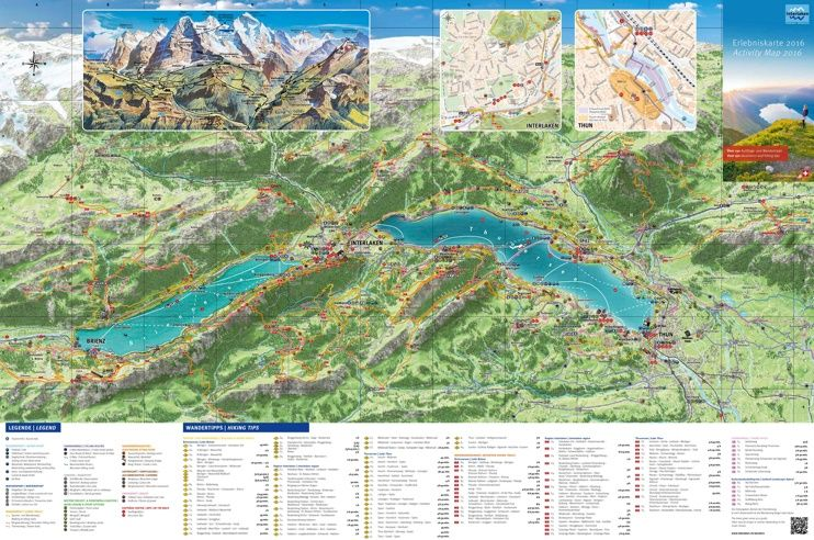 Interlaken tourist map Maps Pinterest Tourist map and Switzerland