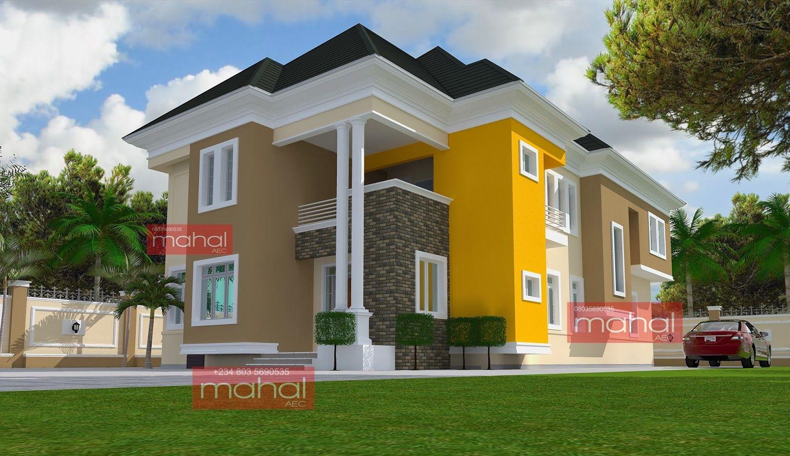 Contemporary Nigerian Residential Architecture 4 Bedroom Duplex Mercy T House Series Duplex House Plans Duplex Design Duplex House Design
