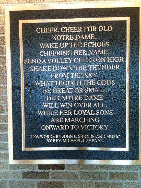 Notre Dame fight song plaque  Like the Irish? Be sure to check out