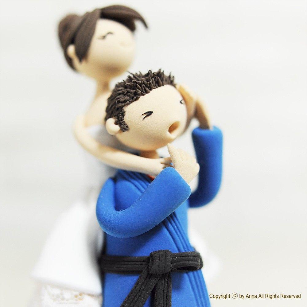 Wedding Cake Topper - Custom Cake Topper - Jiu jitsu Cake Topper ...