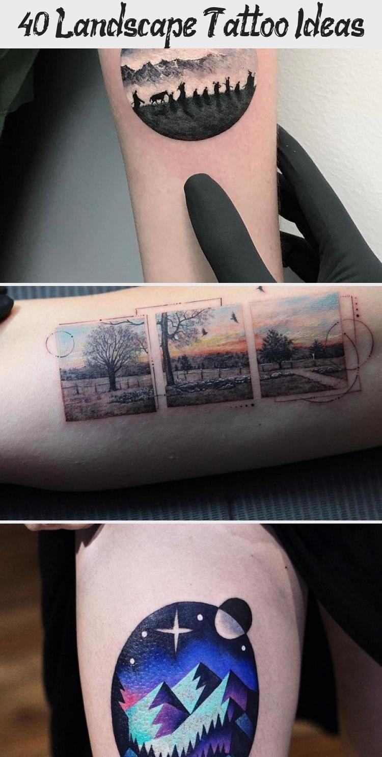 Photo of Idées de tatouage de paysage #PopArtTattoo #TinyArtTattoo #YouAreArtTattoo #VintageArt …