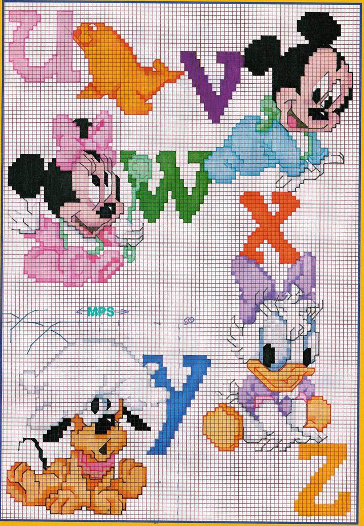 Alfabeto Bebe De Disney Minnie Mouse 4 Vyshivka Krestom
