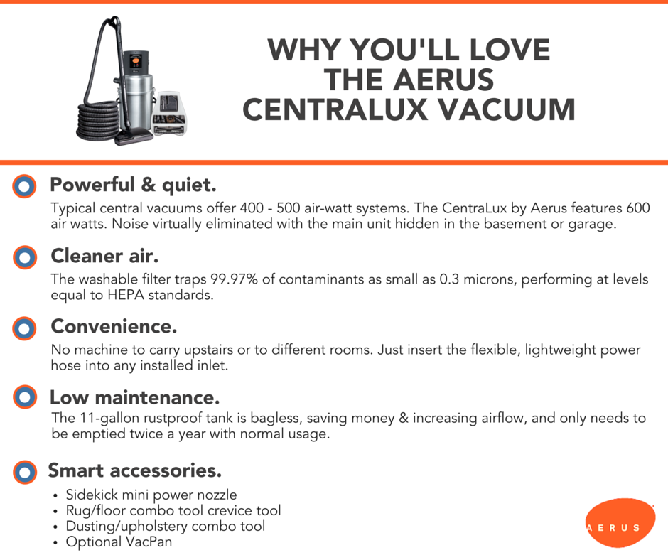 A central vacuum is a great addition to your home